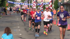 Joggers in the Air Force Marathon - stock footage