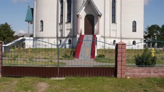 Church of Holy Annunciation in Great Motykaly Stock Footage