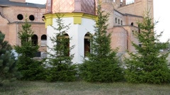 Church of Sts. Charles Borromeo in Bialystok Stock Footage