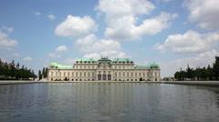 Summer view of Upper Belvedere in Vienna, Austria Stock Footage
