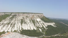 Panoramic View of the Mountain and the Horizon, Canyon Stock Footage