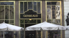 Gerbeaud restaurant at Budapest in Hungary, Europe on holiday Stock Footage