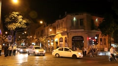 Establishing shot of the Ultra Orthodox Jewish community Mea Shearim Stock Footage