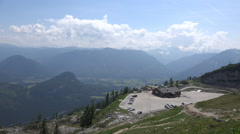 Amazing alps panorama view Loser mountain Austria Stock Footage