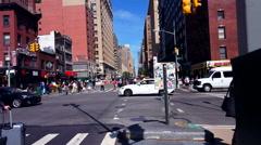 Crossing 7Th  AV. AND 23 Th  St. Manhattan New York  4K Stock Footage