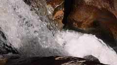 Slow motion a cool waterfall in slot canyon in southern utah Stock Footage