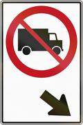 No Lorries On The Right In Canada Stock Illustration