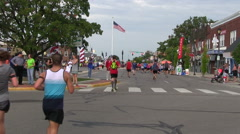 Runners in the Air Force Marathon Stock Footage
