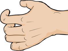 Close Up Grabbing Hand - stock illustration