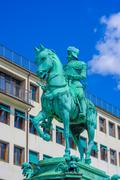 King Karl IX statue in Kungsporten square, downtown Gothenburg - stock photo