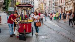 Istanbul - Afternoon in Istiklal avenue - stock footage