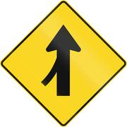 Merge Ahead In Canada - stock illustration