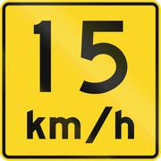 Stock Illustration of Speed Limit 15 Kmh In Canada