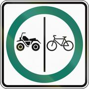 Stock Illustration of Bicycle And ATV Lane in Canada