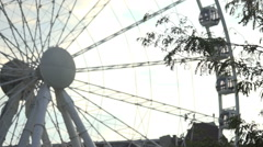 Ferris wheel at summer in Budapest, Hungary, Europe Stock Footage