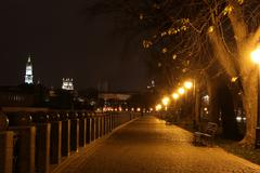 quay night city Kharkiv, Ukraine - stock photo
