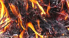 Fire and ashes - stock footage