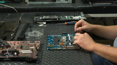 Assembly of laptop, time lapse Stock Footage