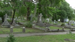 Drive through Bonaventure cemetery Stock Footage