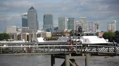 Dockland, London, pier, England, Europe Stock Footage
