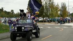 Husky, Mascot, Dawg, Tailgate Party, Football, College Football Stock Footage