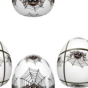 Seamless easter eggs pattern with spiders - stock illustration