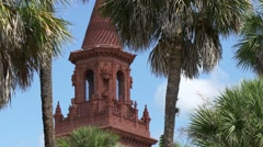 Tower of Grace United Methodist, St.Augustine Stock Footage