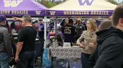Tailgate Party, Football, College Football Stock Footage