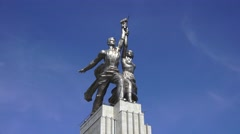 The Worker and Kolkhoz Woman Monument (in 4k), Moscow, Russia. Stock Footage