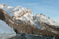 Passo Rolle, The Dolomites, Northern Italy - stock photo