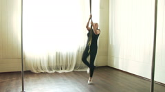 Aerial Gymnast Workout Stock Footage