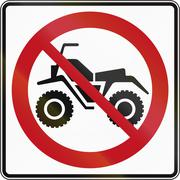 No ATVs in Canada Stock Illustration