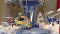 Miniature Carousel Toy In Paris Stock Footage