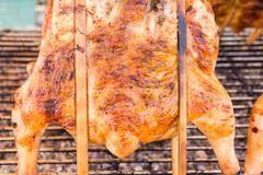 Grilled chicken, Delicious menu available in the Thailand side, Are available on - stock photo