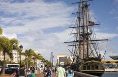 replica HMS bounty in Puerto Rico - stock photo