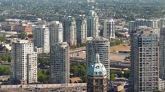 City Landscape With Major Road Near Apartment Buildings Stock Footage