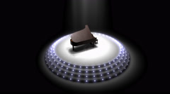 Piano stage, podium, orchestra, music. Stock Footage