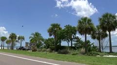 Driving on Sanibel island Stock Footage