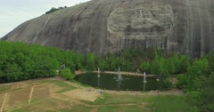 Stone Mountain National Park Aerial 30 - stock footage