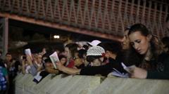 Jewish women recite Slihot, penitential prayers, before Yom Kippur - stock footage