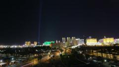 Timelapse Las Vegas City Night Stock Footage