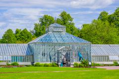 Greenhouse in Tradgardsforeningen, the Garden Society park, downtown Gothenburg - stock photo