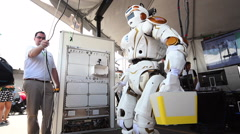 NASA Valkyrie Robot Turning Head Stock Footage