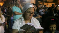 Editorial: Jewish women recite Slihot, penitential prayers, before Yom Kippur - stock footage