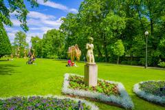 Tradgardsforeningen, the Garden Society park in downtown Gothenburg - stock photo