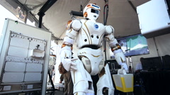 NASA Valkyrie Robot Turning Stock Footage
