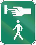 Use The Crosswalk Signal In Canada - stock illustration