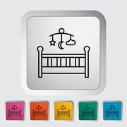 Baby bed Stock Illustration