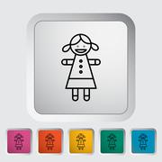 Doll toy - stock illustration