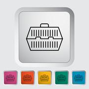 Stock Illustration of Pet carrier icon